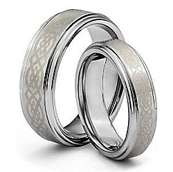 Click Here for Tungsten Carbide Gold Plating His  Her's Wedding Rings
